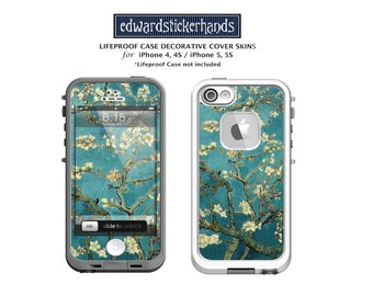 Lifeproof Case Decorative Cover Skin Decal for iPhones- Van Gogh Blossoming Almond Tree Pattern!