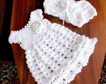 christening dress, baptism dress, baby white dress, baby wedding dress, crochet baby dress, Christmas outfit, baby gifts holiday baby dress