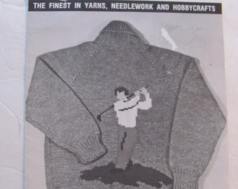 Graph Style Knitting Pattern : Popular items for golf cardigan on Etsy