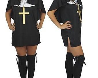 Nun Dress & Habit Set Catholic Sister Act Fancy Dress Costume UK Made