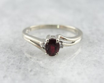 Vintage Ruby and Diamond Ladies Ring for Daytime or Evening YE67EE-D