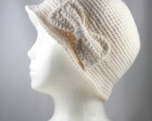 Cream Cloche Hat for Cancer Patients