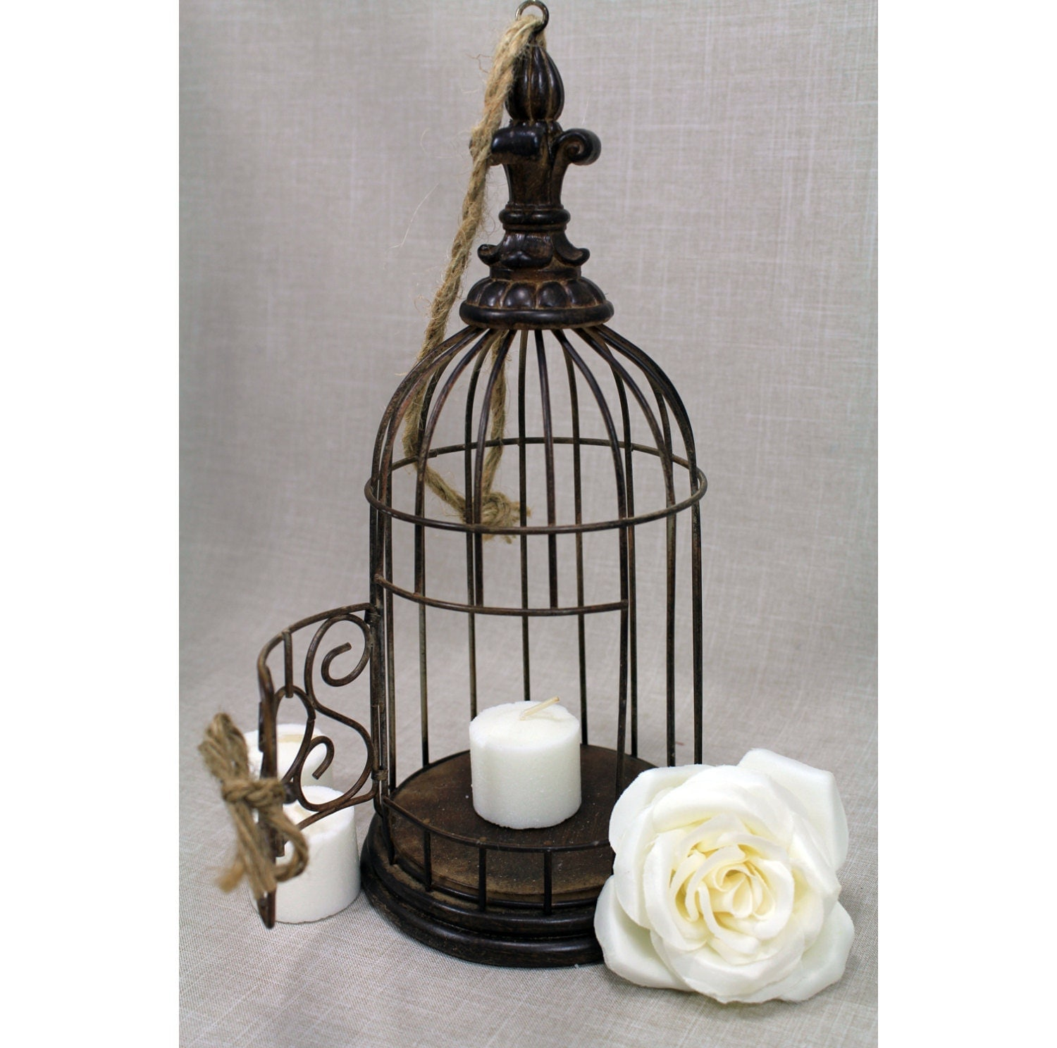 Bird cage centerpiece rustic chic by