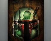 "Star Wars Inspired ""Boba Fett: Hunter's Quest"" 11X14 Signed Art Print Poster Empire Strikes Back Herofied Bounty Hunter Mandalorian"