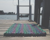 Recycled Lobster Rope Doormat, Handwoven in Maine: Tenants Harbor