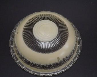 Vintage, Art deco pendant glass lamp shade
