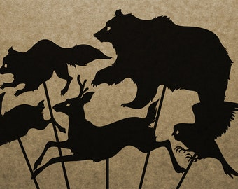 DIY Forest Dweller Shadow Puppet Collection (DOWNLOAD)