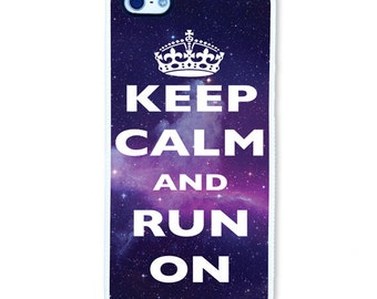 iPhone 5 Rubber Case || Keep Calm and Run On