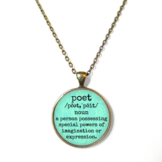 Definition of Poet Necklace Motivational and inspirational