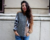 Sheer Button Up Multi Animal Print Blouse// RESERVE