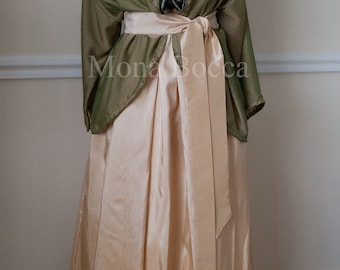 Edwardian dress handmade to order in England with jacket Lady Mary Crawley Downton Abbey vintage styled Made to order
