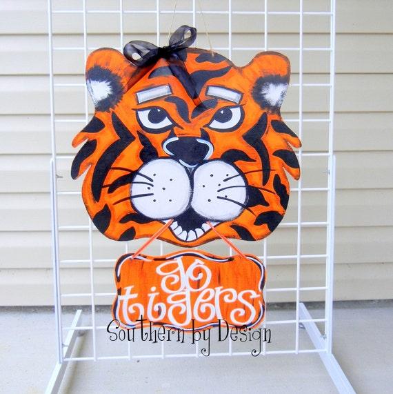 Auburn Tigers Sign Wooden Door Hanger Auburn Tigers War