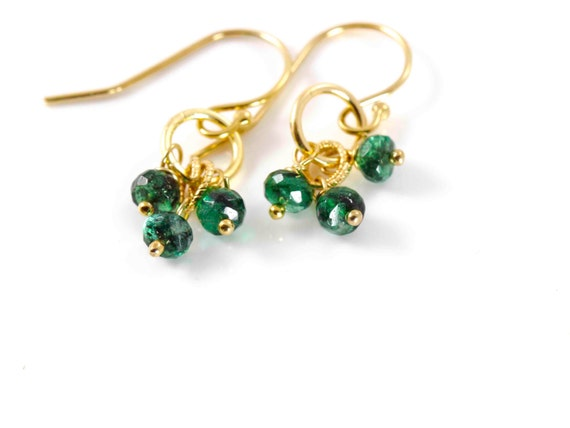 items similar to emerald earrings may birthstone