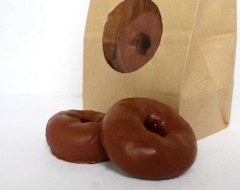 Mini Chocolate Doughnut Soaps - Eight Pack in a Bakery Bag