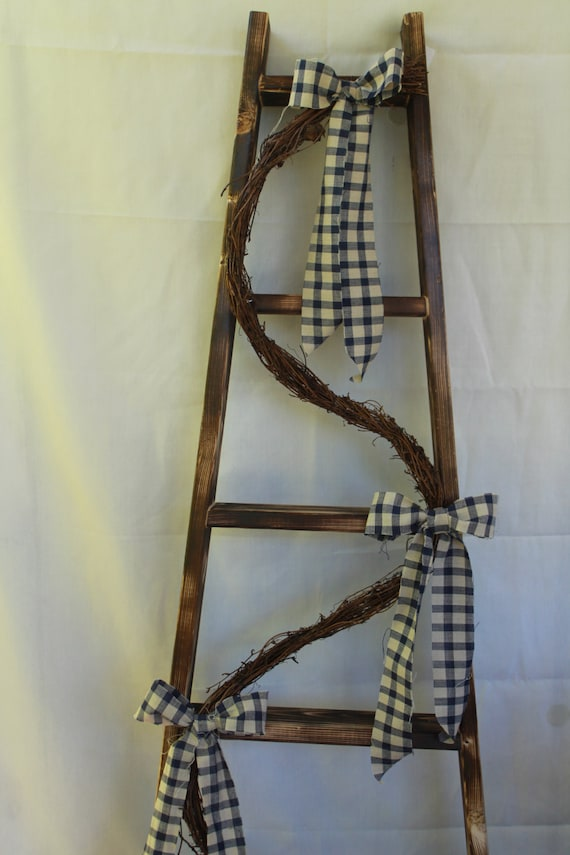 Ladder Decor On Wall : Decorative ladder primitive decor wall