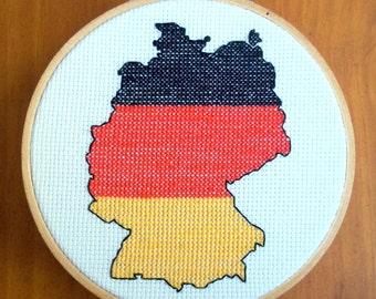 Germany Cross Stitch Pattern, Digital Download PDF
