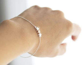 Yesterday Today & Tomorrow delicate tri-star bracelet