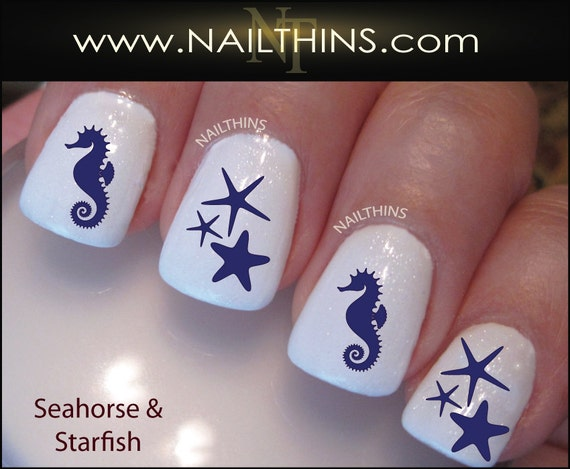 Like this item? - Nail Decals Seahorse And Starfish Nail Art Designs By