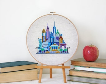Pretty Little New York - Satsuma Street Modern Cross stitch pattern PDF - Instant download