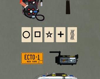 Ghostbusters (8x10, 11x17, or 13x19) Movie Poster v2