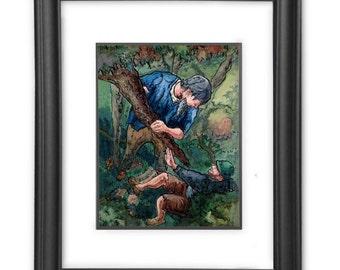 The valiant fairytale interior watercolor illustration print