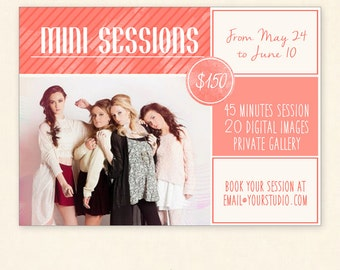 INSTANT DOWNLOAD - Mini Sessions Marketing board Photoshop template - MA143