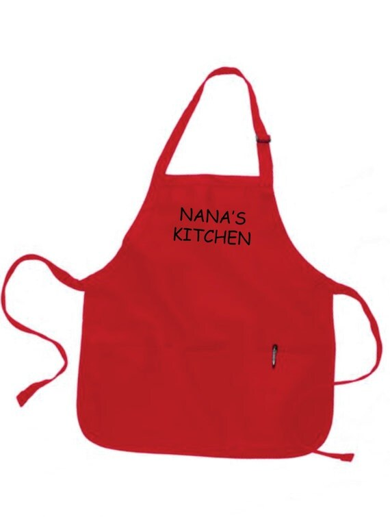 Personalized Womens Apron Nanas Kitchen Nana Gift Ideas For