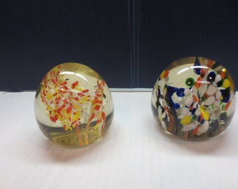 A Beautiful Pair Of Confetti Paper Weights