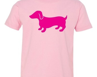 Raspberry Dachshund - Doxie - Hot Dog - Short Sleeve Toddler T-Shirt - Great Dog Lover Gift - Choice of Colors