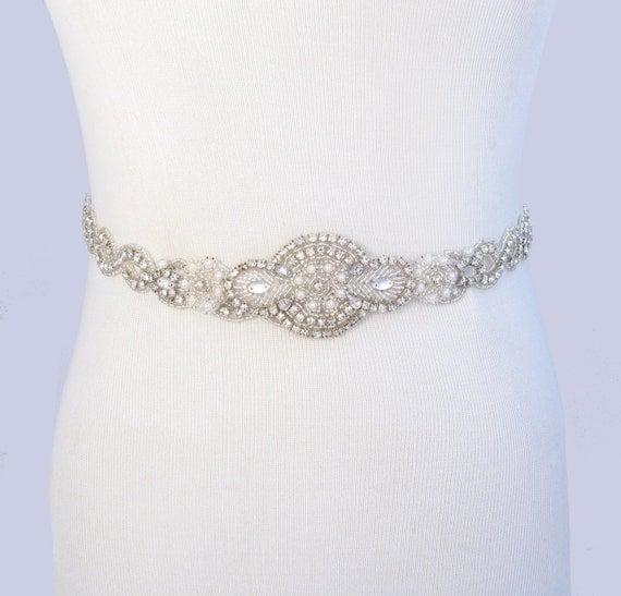 infinity wedding dress sash satin ribbon bridal belt silver