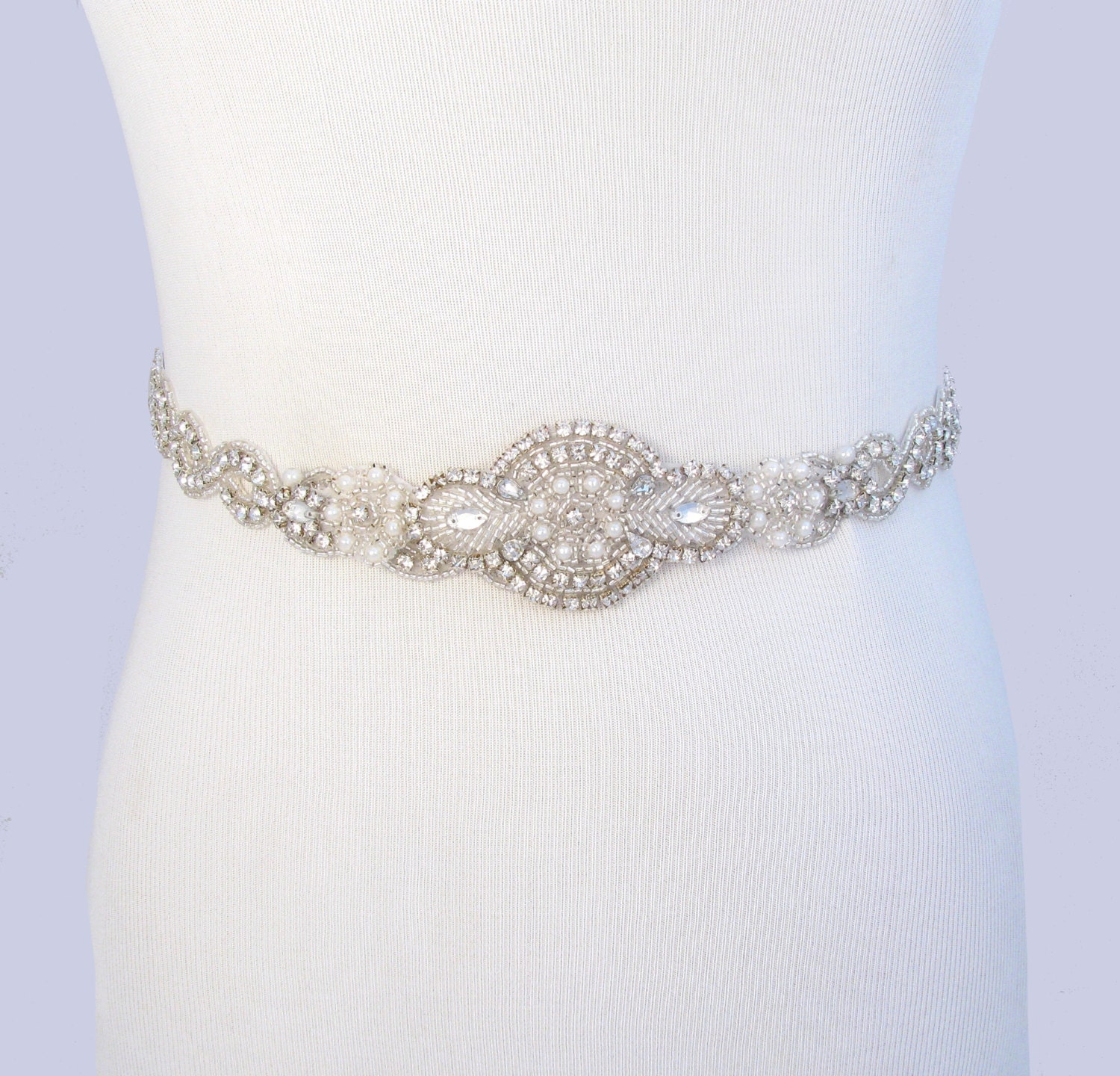 Infinity wedding dress sash satin ribbon bridal belt silver for Satin belt for wedding dress