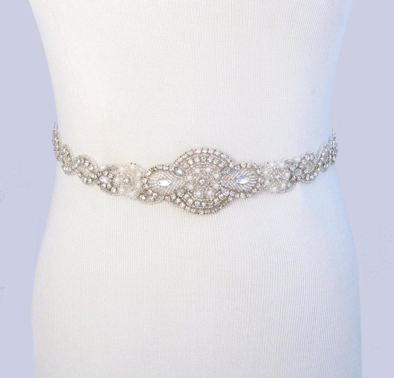 Infinity wedding dress sash satin ribbon bridal belt silver for Satin belt for wedding dress