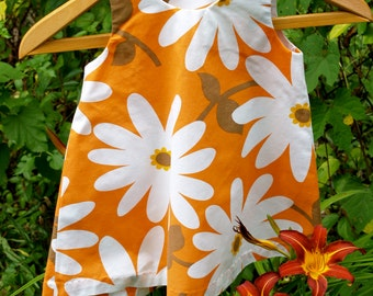 Organic Cotton Daisy Print A-line Pinafore Dress Toddler Size 2 READY TO SHIP