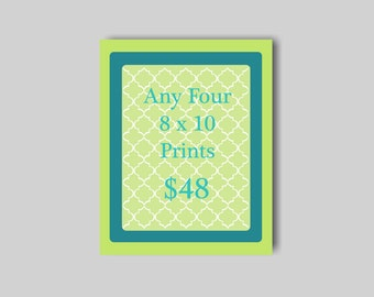 SALE - Four 8 x 10 Prints for 48 Dollars - Customize Your Prints - Nursery Prints - Nursery Wall Art Sale