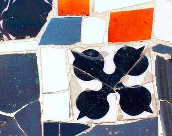Mosaic Tiles, Gaudi, Fine Art Photography, Wall Decor, Barcelona, wall prints