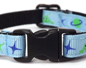 The Alien Invasion   Cat Collar with Bell