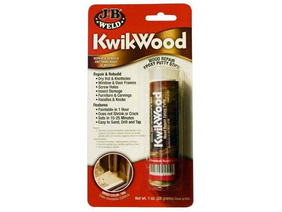 JB KwikWood WOOD  Furniture REPAIR Epoxy adhesive Putty Stick