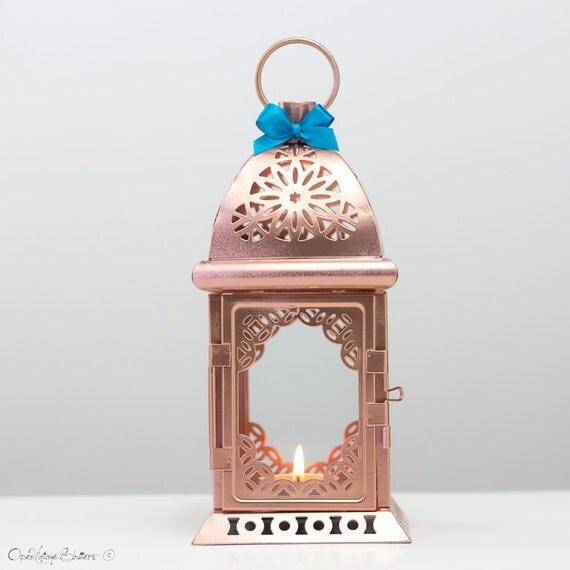 rose gold effect moroccan lantern unique vintage metal candle holder pink gold wedding. Black Bedroom Furniture Sets. Home Design Ideas