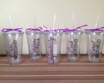 Personalized Tumbler for Bridesmaids