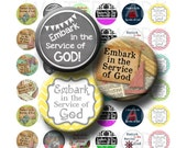 Embark in the Service of God - Variety - Young Womens Theme 2015 - Collage Sheet -1 inch Round Circles - INSTANT DOWNLOAD
