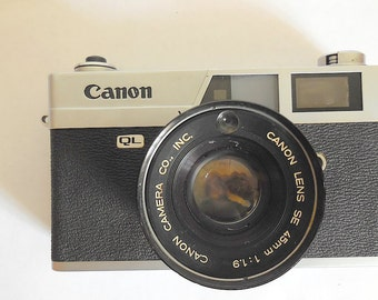 Canon Canonet QL19 QL Rangefinder Film Camera for Parts or Repair