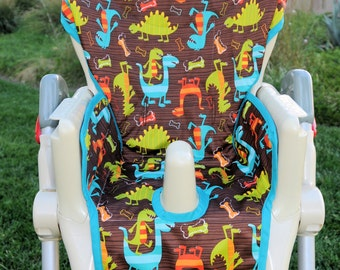 Boys Custom High Chair Cover Pad Design Your Own