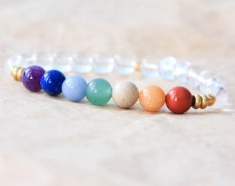 7 Chakra Bracelet, Chakra Mala Beads, Wrist Mala Bracelet, Chakra Beads, Yoga Jewelry, Energy Bracelet, Spiritual Jewelry, Healing Jewelry