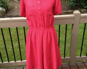 Red and White polka dot dress XXL plus size 14/16