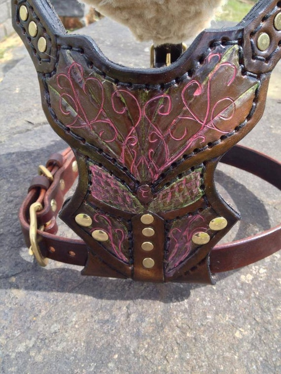 Items Similar To Elven Armor Inspired Leather Dog Harness