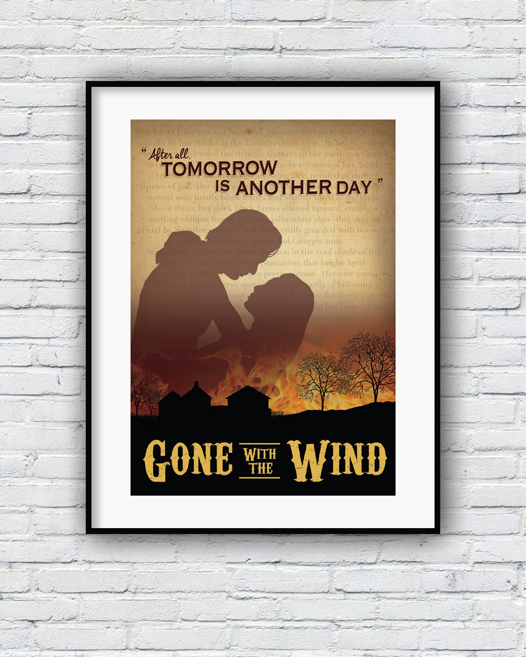 All Quiet On The Western Front Quotes: Gone With The Wind Quote Print Movie Poster Scarlet