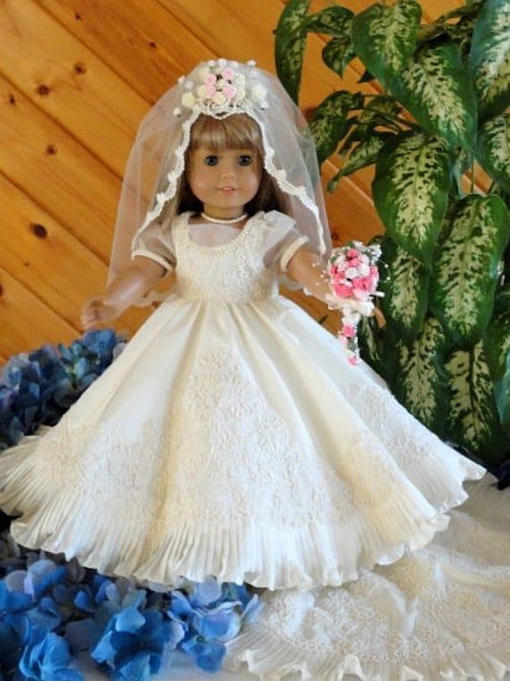 Reduced American Girl Doll 4 Piece Wedding Ensemble Bolero