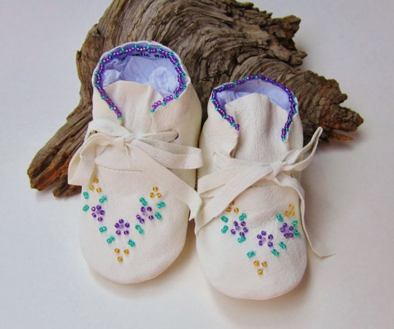 american beaded baby moccasins and by