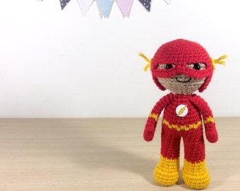 The Flash Amigurumi Crochet Plush Doll