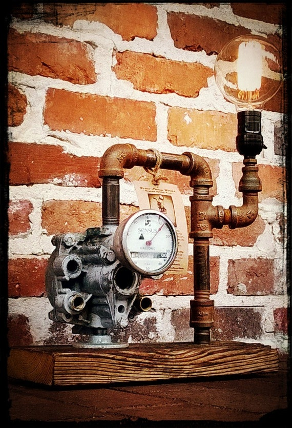 No 40 Upcycled Iron Pipe Recycled Pump Junk Art Repurposed